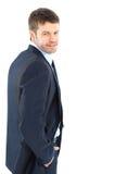Portrait eines Geschäftsmannes stockfotos