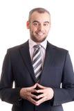 Portrait eines glücklichen Geschäftsmannes Lizenzfreie Stockfotografie
