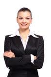 Portrait eines glücklichen jungen Geschäfts stockbild