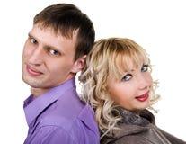 Portrait eines glücklichen jungen Paares Lizenzfreies Stockfoto
