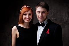 Portrait eines glücklichen jungen Paares Lizenzfreie Stockbilder