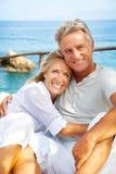 Portrait eines glücklichen romantischen Paares lizenzfreie stockbilder