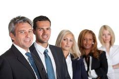 Portrait eines glücklichen verschiedenen Geschäftsteams Lizenzfreies Stockbild