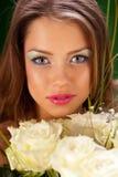 Portrait eines hübschen Mädchens Stockfotos