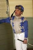 Portrait eines Jockeys Stockbilder