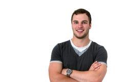Portrait eines jungen attraktiven liebenswerten Mannes Lizenzfreie Stockfotos
