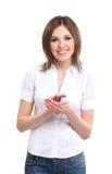 Portrait eines jungen Brunette in der formalen Kleidung Stockbild