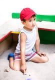 Portrait eines Jungen der Jahre 3-4 Stockbild
