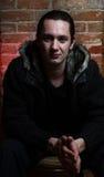 Portrait eines jungen Gangsters Lizenzfreie Stockbilder
