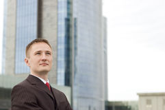 Portrait eines jungen Geschäftsmannes Lizenzfreies Stockfoto