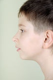 Portrait eines Jungen im Profil Stockbilder
