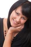 Portrait eines jungen lächelnden Brunette Lizenzfreies Stockbild