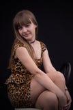 Portrait eines jungen Mädchens mit blauen Augen Lizenzfreie Stockbilder