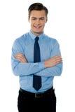 Portrait eines jungen männlichen Unternehmensleiters stockbilder
