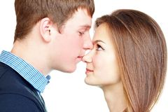 Portrait eines jungen Paares Stockbilder