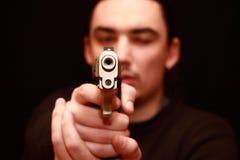 Portrait eines jungen stattlichen Mannes Lizenzfreies Stockfoto