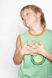 Portrait eines Jungen von elf Jahren. Stockfotografie