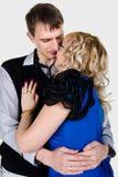 Portrait eines küssenden jungen Paares Lizenzfreies Stockfoto