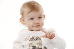 Portrait eines Kindes auf einem weißen Hintergrund Lizenzfreies Stockfoto