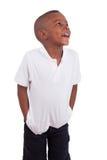 Portrait eines kleinen Jungen des netten Afroamerikaners Lizenzfreies Stockbild