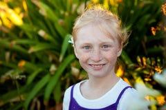 Portrait eines kleinen Mädchens Lizenzfreies Stockbild