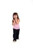 Portrait eines kleinen Mädchens stockbild