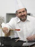 Portrait eines Kochs Stockfotografie