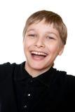 Portrait eines lächelnden Jugendlichen Stockfotografie
