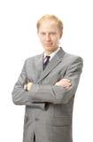 Portrait eines lächelnden jungen Geschäftsmannes Lizenzfreie Stockfotos
