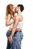 Portrait eines leidenschaftlichen Paares Lizenzfreies Stockbild
