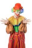 Portrait eines lustigen Clowns stockfoto