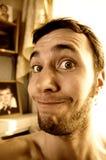 Portrait eines lustigen Kerls Stockbilder