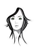 Portrait eines Mädchens Stockbild