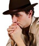 Portrait eines Mannes in einem Hut Stockbilder