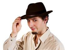 Portrait eines Mannes in einem Hut Stockfoto