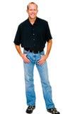 Portrait eines Mannlächelns Stockfotografie