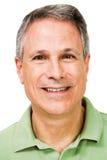 Portrait eines Mannlächelns Stockfoto