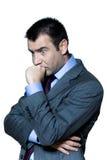 Portrait eines nachdenklichen besorgten Geschäftsmannes Lizenzfreie Stockbilder