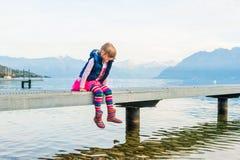 Portrait eines netten kleinen Mädchens Lizenzfreie Stockfotos