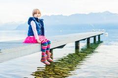 Portrait eines netten kleinen Mädchens Stockbild