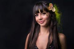 Portrait eines netten Mädchens Stockfotografie