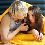 Portrait eines Paares in der Liebe Stockfotografie