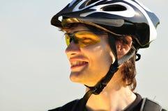 Portrait eines Radfahrers Stockfotos