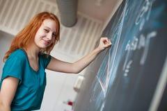 Portrait eines recht jungen Studenten Stockfotos