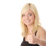 Portrait eines recht jungen weiblichen Erfolgs stockfoto