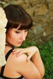Portrait eines reizenden romantischen Mädchens Lizenzfreie Stockbilder