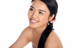 Portrait eines schönen asiatischen Mädchens stockbilder