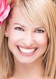 Portrait eines schönen blonden Mädchens Lizenzfreie Stockbilder