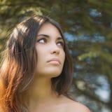 Portrait eines schönen Brunette Lizenzfreie Stockbilder