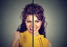 Portrait eines schönen Frauenlächelns lizenzfreies stockfoto